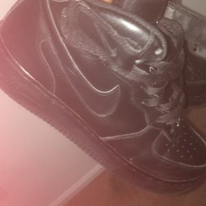 Black airs force 1's (hightops)